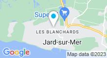 Plan Carte Les Crevettes - cours de natation - Jard sur Mer
