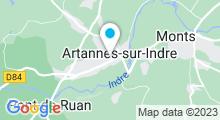 Plan Carte Le monde de Cha à Artannes-sur-Indre