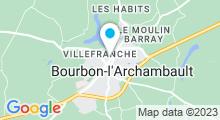 Plan Carte Thermes à Bourbon l'Archambault