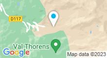 Plan Carte Spa du Fitz Roy à Val Thorens