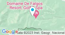 Plan Carte Spa du Domaine de Falgos à Saint Laurent de Cerdans