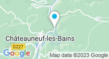 Plan Carte Thermes à Châteauneuf-les-Bains