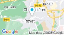 Plan Carte Thermes à Royat-Chamalières