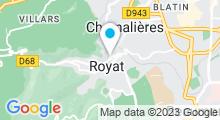 Plan Carte Spa du Centre Royatonic à Royat