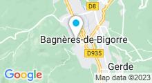 Plan Carte Spa thermal Aquensis à Bagnères-de-Bigorre