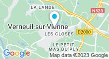 """Plan Carte Spa """"Les Granges du Mieux-Etre"""" à Verneuil-sur-Vienne"""