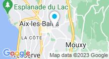 Plan Carte Thermes Chevalley à Aix-les-Bains