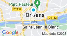 Plan Carte Spa Sabaï Thaï à Orléans