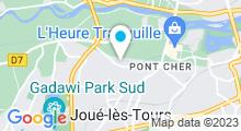 Plan Carte Magnolia Spa à Joué-lés-Tours