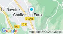 Plan Carte Thermes à Challes-les-Eaux