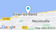 Plan Carte Thermes à Evian-les-Bains