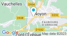"""Plan Carte Spa """"Les Eaux Vives"""" à Noyon"""