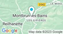 Plan Carte Thermes à Montbrun-les-Bains