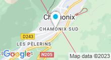 Plan Carte Deep Nature Spa des Aiglons à Chamonix