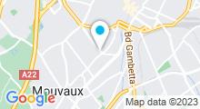 Plan Carte Eau Zone Spa à Tourcoing - Mouvaux