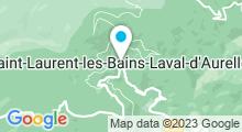 Plan Carte Thermes à Saint-Laurent-les-Bains