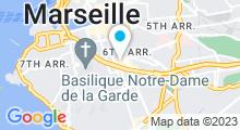 Plan Carte Spa Les Bains de Sherazade à Marseille (6ème)