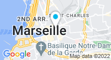 Plan Carte Hammam Eden à Marseille (1er)