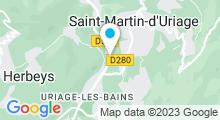 Plan Carte Thermes à Uriage-les-Bains