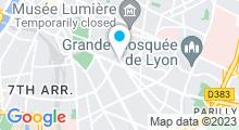 Plan Carte Club Victor Hugo (Berthelot) à Lyon