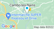 Plan Carte Thermes à Cambo-les-Bains