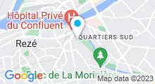 Plan Carte Résid'Spa Loire & Sèvre à Rezé
