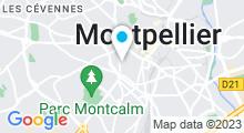Plan Carte Spa Le 36 à Montpellier