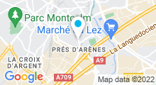 Plan Carte Country Club Forme et Spa à Montpellier