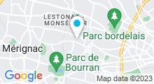"""Plan Carte Centre de thalassothérapie """"Les Thermes de Cauderan"""" à Bordeaux"""