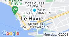 Plan Carte Centre Minceur et Aroma Spa 3 Cannelles au Havre