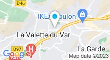 Plan Carte Le Spa de Caroline à La Valette du Var