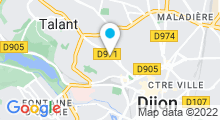 Plan Carte Spa Victor Hugo à Dijon