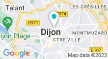 """Plan Carte Piscine et Remise en forme """"Centre Toni-Thermes"""" à Dijon"""