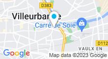 Plan Carte Hammam Cleopatra à Villeurbanne