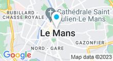 Plan Carte Le Spa du Comte de Bâttine Le Mans