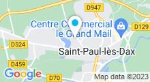 Plan Carte Thermes Sourcéo à Saint-Paul-les-Dax