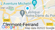 Plan Carte Salle de fitness Wellness Sport Club à Clermont-Ferrand