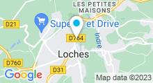 Plan Carte Spa Les Bains Douches à Loches