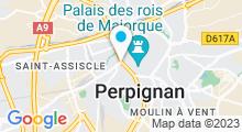 Plan Carte Spa Hammam A Fleur d'Eau à Perpignan