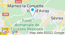 Plan Carte Spa Caudalie Les Etangs de Corot à Ville d'Avray