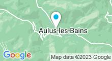 Plan Carte Thermes à Aulus-les-Bains