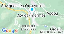 Plan Carte Thermes à Ax-les-Thermes