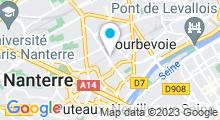 Plan Carte Jaroen Thai Spa à Courbevoie
