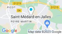 Plan Carte Spa Route du Spa à Saint-Médard-en-Jalles