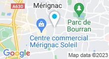 Plan Carte Spa Institut Caraïbe à Mérignac