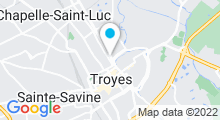 Plan Carte Spa Harmonie des Sens à Troyes