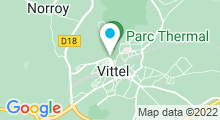 Plan Carte Thermes à Vittel