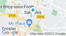 Plan Carte Spa Au Jardin des Sens à Sarcelles