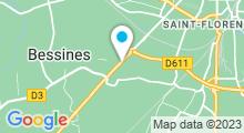 Plan Carte Les Océades à Bessines (Niort)