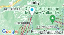 Plan Carte Spa Océane Montchavin La Plagne à Bellentre